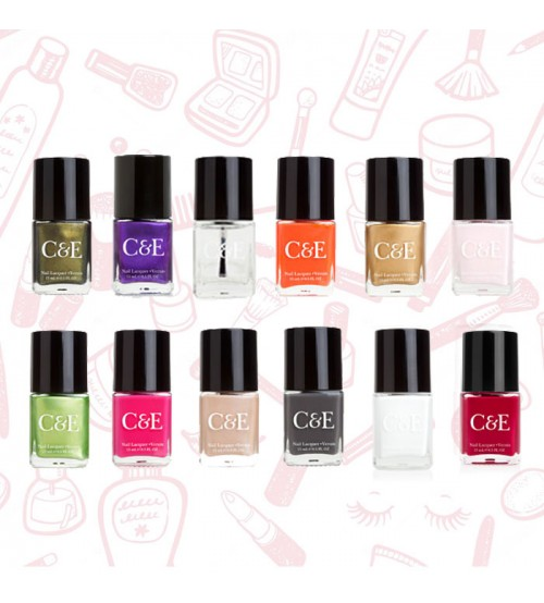Set of 12 Nail Polishes By Crabtree And Evelyn