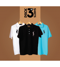 PACK OF 3 POLO T SHIRTS FOR MENS
