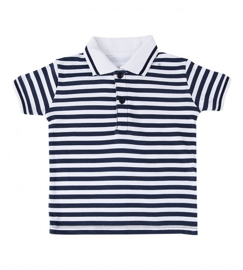 Black Lining Polo Shirt For Kids
