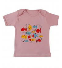 Round Neck Pink T-Shirt For Baby