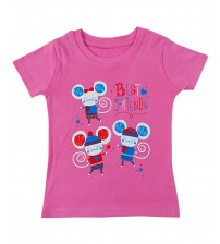 Round Neck Pink T-Shirt for Baby Girl