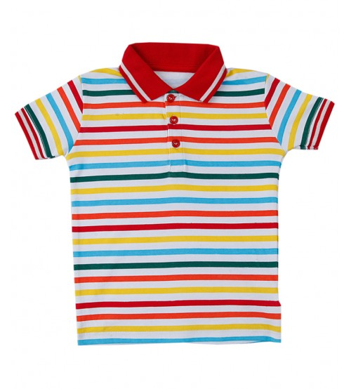 Multi Color Polo Shirt For Kids