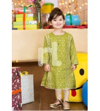 Green Floral Embroidered Linen Dress