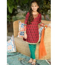 Embroidered Casual Kurta Slwar