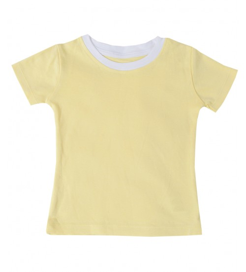 Short Sleeve Tee Shirt - Yellow For Baby Girl