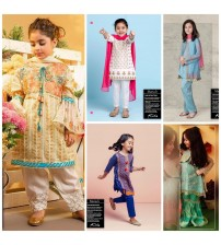 Different Embroidered Lawn Suit For Kids
