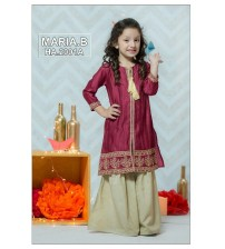 Kids Beautiful Skin Embroidered Unstitched Linen Suits