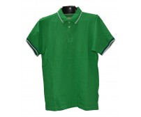 Green Plain Short Sleeve Polo Shirt For Boys