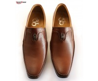 Brown Leather Formal Shoes For Man's