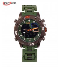 Dual Time Tactical Chain Wrist Watch