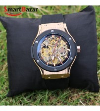 Golden Skeleton Wrist Watch for Men