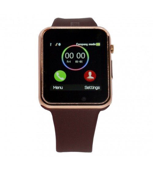 Golden Smart Watch with Bluetooth and SIM Card