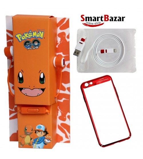 Big Deal Having iPhone Case Ear Phone By Pokemon And Griffon USB Charging Cable
