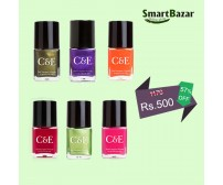 Golden Offer - Pack of 6 - Branded Nail Paints