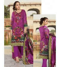Beautiful Embroidered Pink Linen suit