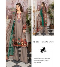 Beautiful Embroidered Suit with pure Dupatta