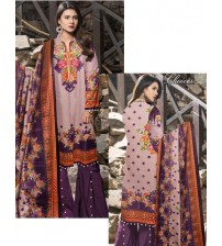 Beautiful Printed Linen Suit with Dyed Trouser