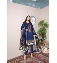 Beautiful printed suit with deluxe styles
