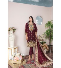 Amazing multi color suit  with dyed trouser