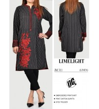 What A Beautiful Black Embroidered Linen Suit