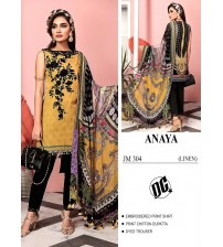 Marvelous fully embroidered shirt with dyed trouser