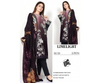 Awesome linen Embroidered printed suit