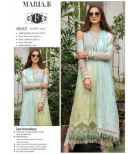 Embroidered schiffle lawn suit with printed trouser