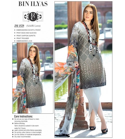 Awesome Embroidered black Lawn suit