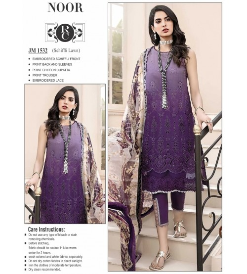 Beautiful Embroidered Purple Suit