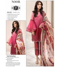 Marvellous Red Embroidered Lawn Suit