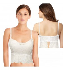 Embroidered Lace Embrace Padded Bra cum Blouse For Ladies