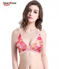 FLORAL PRINT GENTLE SMOOTH  BRA