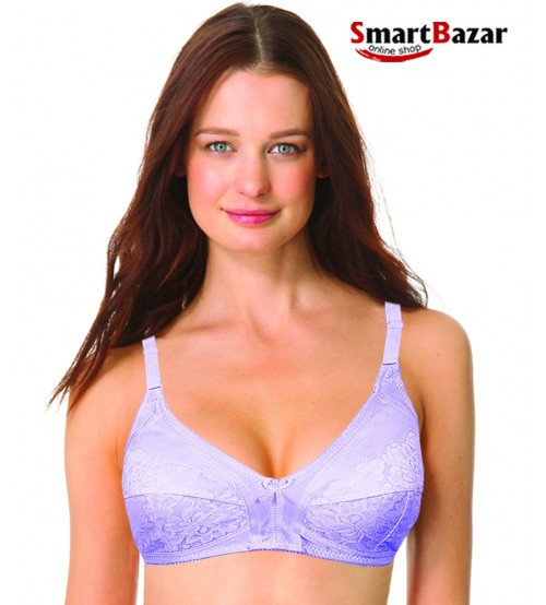 Polyester Support All Day Comfort Floral Wire-Free Bra