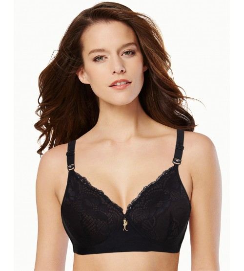 Fancy Embroidered  net padded Comfort Bra For Girls
