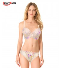 Pretty Printed Panty And Bra Set
