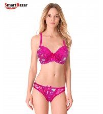 Pink Fancy Bra and Panty set
