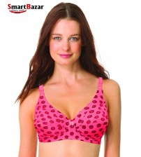 Poly-fabric Wire-Free Floral Petal Cups Jersey Bra