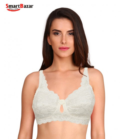 Fancy Embroidered Net Comfort Fabric Bra