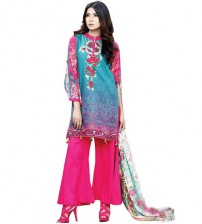 Pink Emboriderd Khaddar Suit For Women's