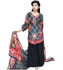 Black Emboriderd Khaddar Suit For Women's