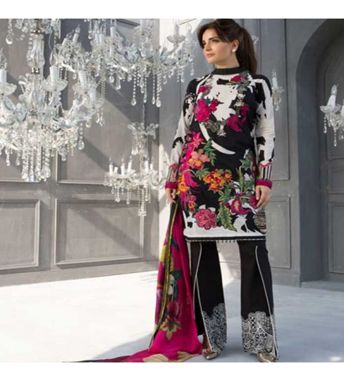 Crimson Suit lawn with Shafoon Dupatta