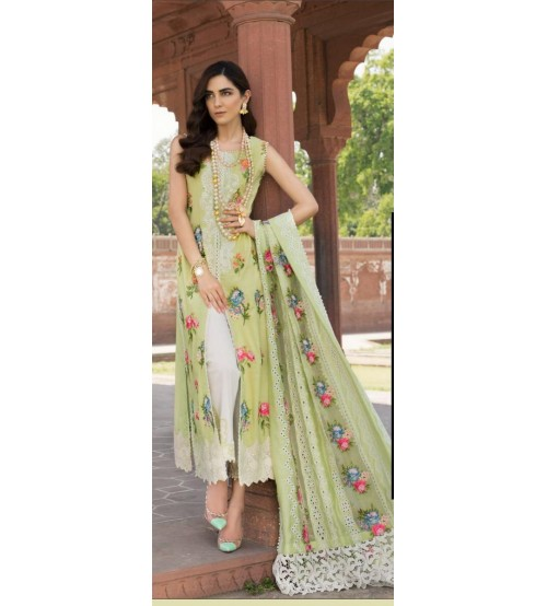 Embraided Suit 3 Pieces In Linen With Chiffon Printed Dupatta