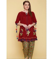 Beautiful Embroidered Linen Unstitched Suit