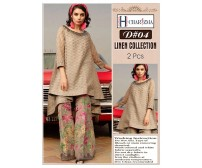 Embroidered Winter Collection Linen Suit