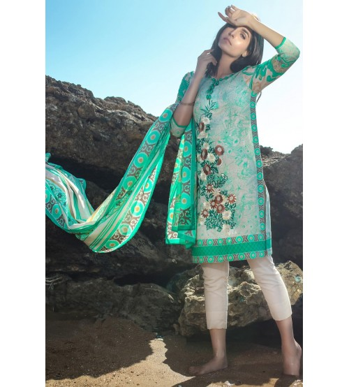 Lawn With Cotton Net  Dupatta