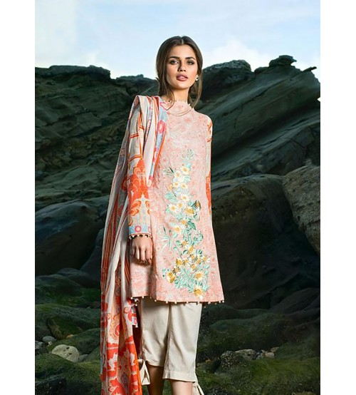 Beautiful Lawn With Cotton Net  Dupatta