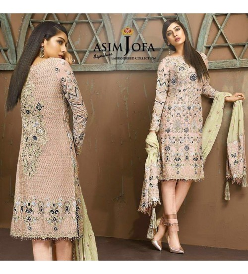 Front Full Heavy Embroidered Chiffon suit