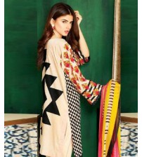 Buy Now Orange Lawn Suit Online Shopping