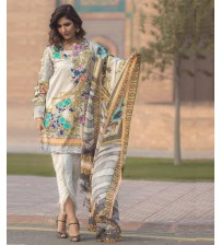 Lawn Suit Front Fully Embroidered Trousers Printed