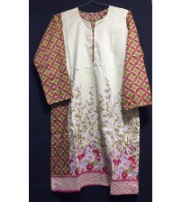 Women Embroidered Lawn Kurti